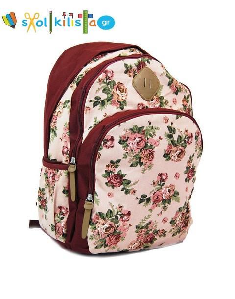 9e1a4c405c4 Τσάντες Δημοτικού: ΣΧΟΛΙΚΗ ΤΣΑΝΤΑ ΣΑΚΙΔΙΟ ΠΛΑΤΗΣ Kimono Floral