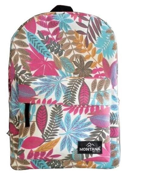 Montana τσάντα πλάτης εφηβική φύλλα με 1 θήκη 40x28x12εκ.