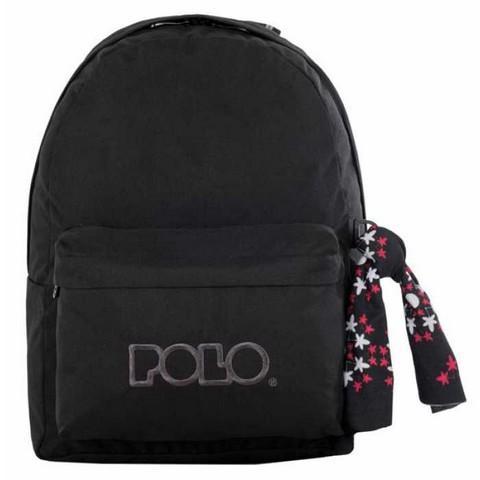 047a7a0e0d5 Polo | Σχολική Τσάντα Σακίδιο Πλάτης με Μαντήλι Μαύρο