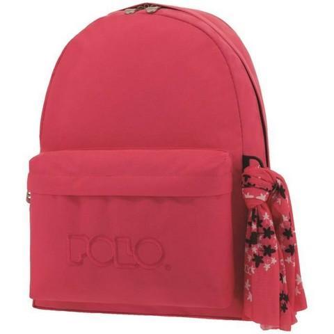 ac864daf4b POLO με Μαντήλι Σχολική Τσάντα Σκούρο Ροζ Original Κλασική