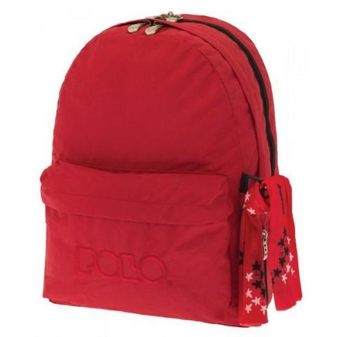 8d328347b24 Polo | Σχολική Τσάντα Σακίδιο Πλάτης Double Scarf Κόκκινο