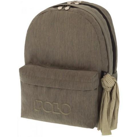 Polo Σχολική Τσάντα Πλάτης Double Scarf Jean Λαδί