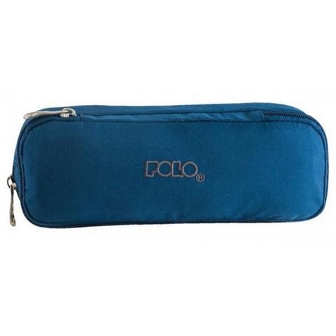 Σχολική POLO Κασετίνα Duo Box Βαρελάκι Σκούρο Μπλε