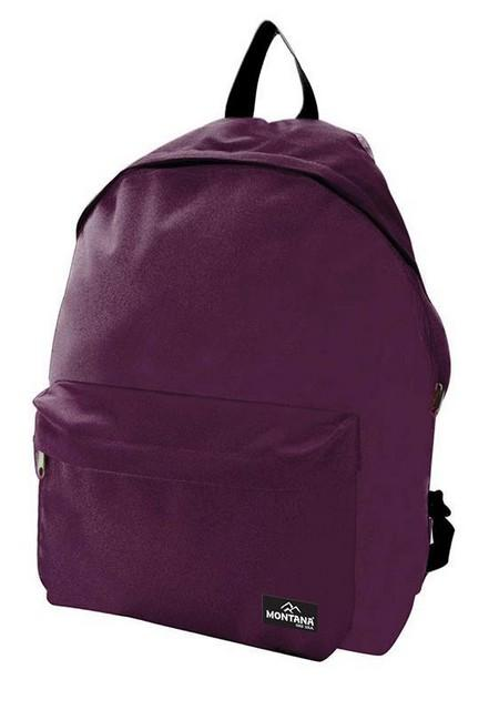 Montana τσάντα πλάτης εφηβική μωβ με μπροστινή θήκη 40x29x16.5εκ.