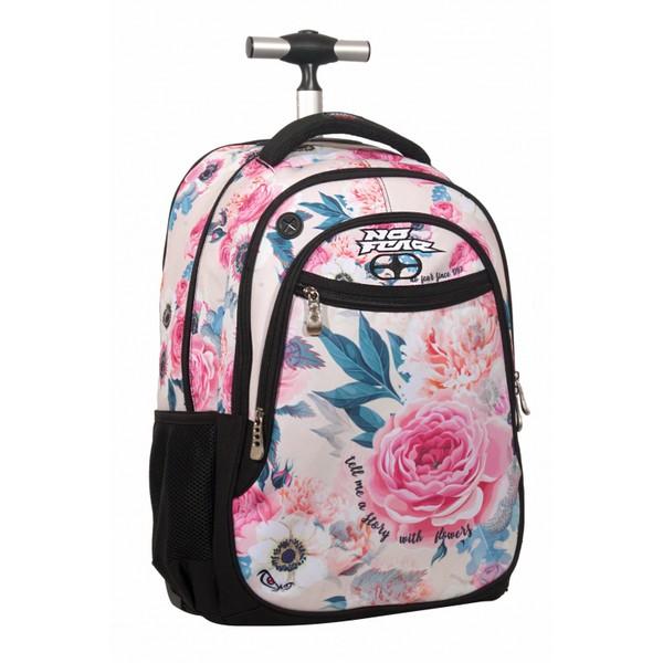 No Fear Pink Floral Σχολικό Τρόλεϊ Δημοτικού (347-60074)