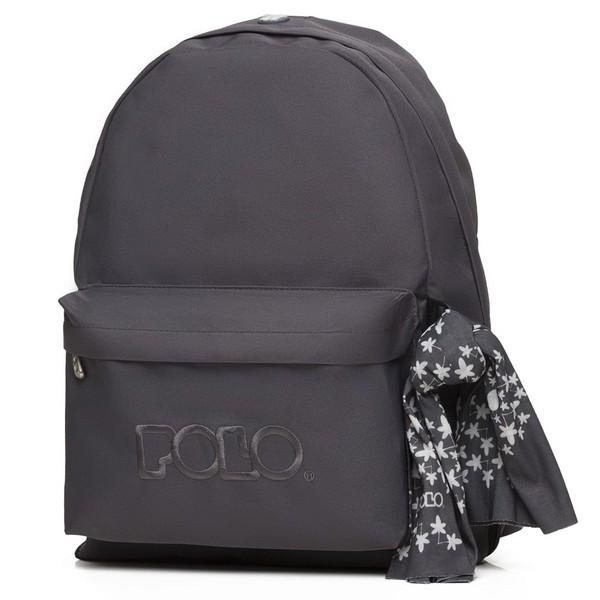 POLO με Μαντήλι Σχολική Τσάντα Ανθρακί Original Κλασική (901-135-08) 2020
