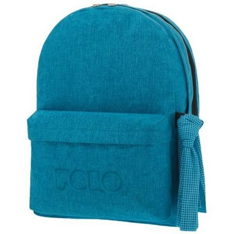 POLO Σχολική Τσάντα Jean Style Double Scarf Γαλάζιο 2019