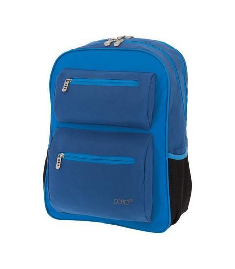 POLO Σχολική Τσάντα Πλάτης Surface Μπλε (901-241-05)