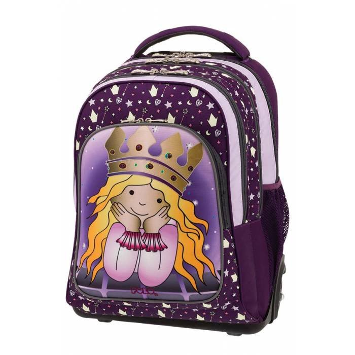 POLO Σχολική Τσάντα Τρόλεϊ Troller Glow Princess (901-251-72)