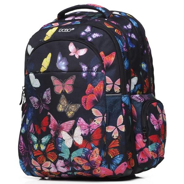 POLO Σχολική Τσάντα Extenc Glow Πεταλούδες (901-266-8009) 2020