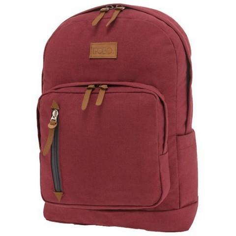 POLO Σχολική Τσάντα Πλάτης Bole Style Κόκκινο (901-243-30) 2019