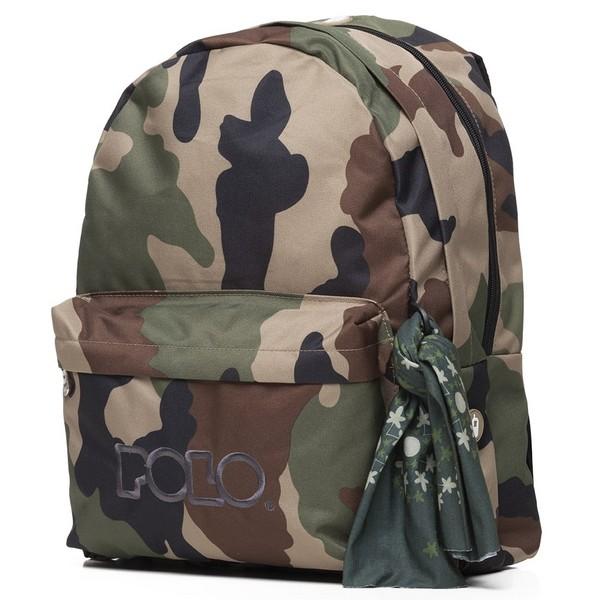 POLO Σχολική Τσάντα Πλάτης Double Scarf Παραλλαγής (901-235-42) 2020
