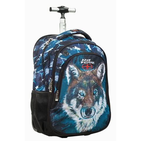 Σχολική Τσάντα Τρόλεϊ No Fear Fluo Wolf (347-70074) 2020