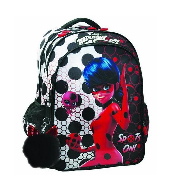 Σχολική Τσάντα Δημοτικού LadyBug Dots Gim (346-02031) 2020