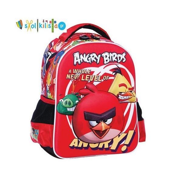 Σχολική Τσάντα Νηπίου Gim Angry Birds (335-23054)