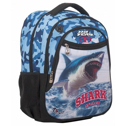 Σχολικό Σακίδιο με 3 Θήκες για Αγόρια No Fear Ocean Shark (347-63031)